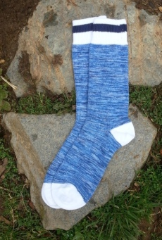 nautical royal-blue and white socks